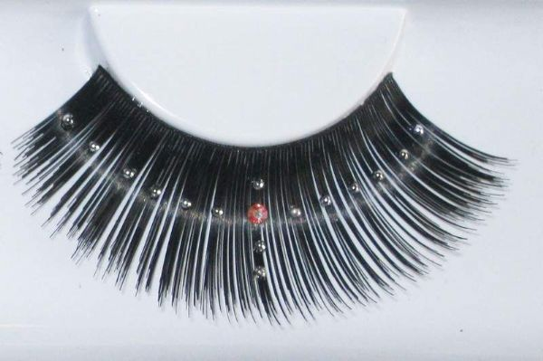 Eyelash Eye Lash set Pearly Cross Long Black
